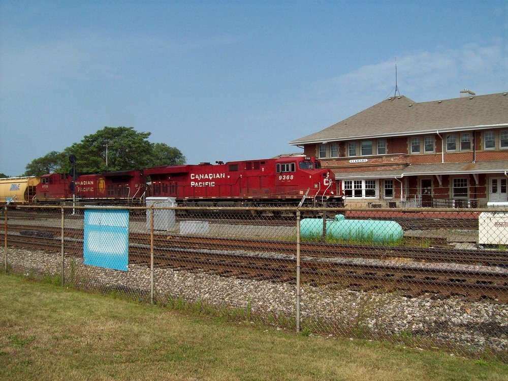 Elkhart Depot and CN Train